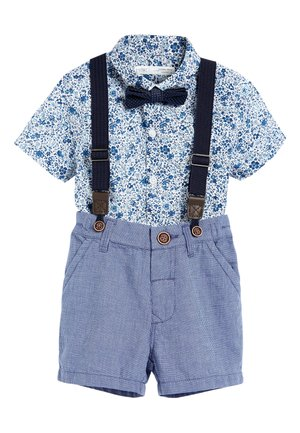 BLUE SHIRT AND SHORTS SET (3MTHS-7YRS) - Pantalon classique - blue