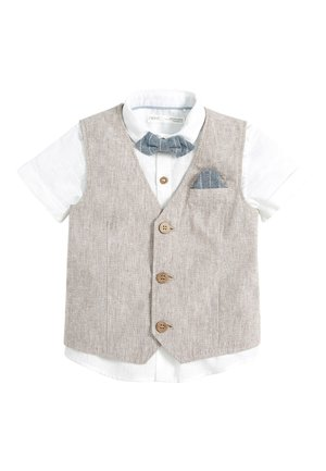 NEUTRAL WAISTCOAT SET (3MTHS-12YRS) - Bodywarmer - beige