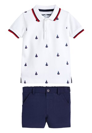 WHITE BOAT EMBROIDERED POLO AND SHORTS SET (3MTHS-7YRS) - Shorts - white