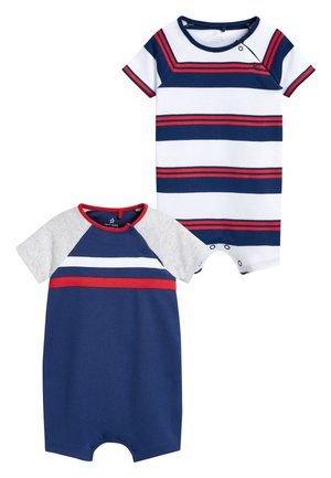 NAVY/RED 2 PACK SPORTY ROMPERS (0MTHS-3YRS) - Combinaison - blue