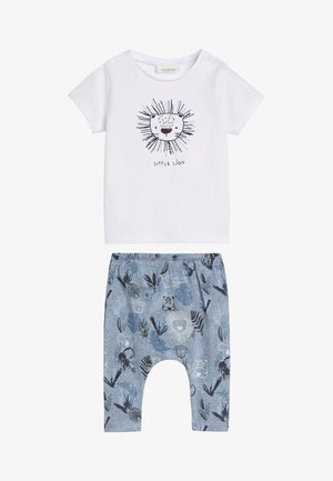 BLUE LION STRETCH JERSEY T-SHIRT AND LEGGINGS SET (0MTHS-3YRS) - Leggings - Trousers - blue