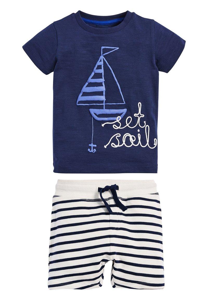 Next - BLUE SET SAIL T-SHIRT AND SHORTS SET (3MTHS-7YRS) - Shorts - blue