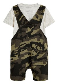 Next - CAMOUFLAGE SHORT DUNGAREES AND T-SHIRT SET (3MTHS-7YRS) - Dungarees - green - 1