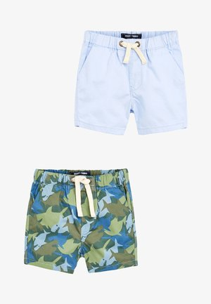 SHARK CAMO/BLUE 2 PACK SHORTS (3MTHS-7YRS) - Kraťasy - blue