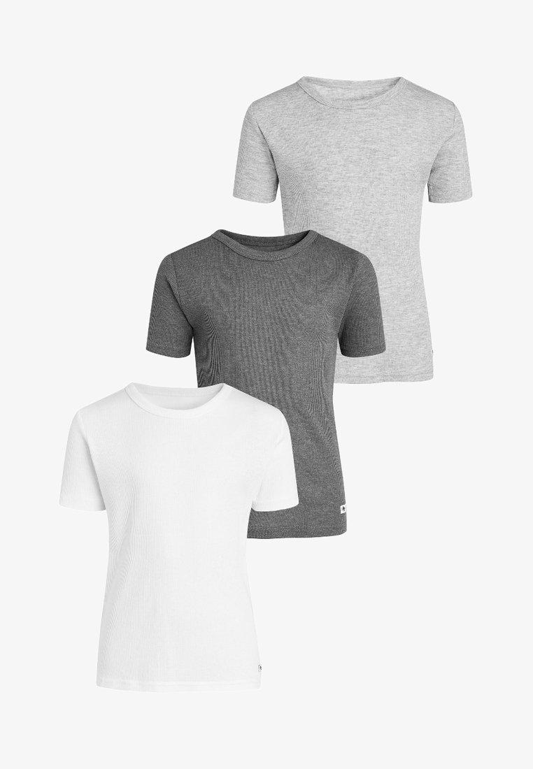 Next - THREE PACK - T-shirt basic - white