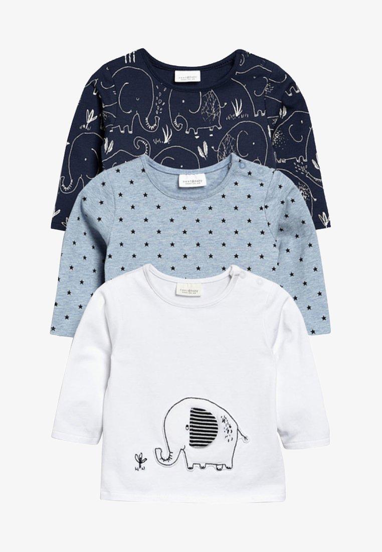 Next - 3PACK - Langarmshirt - white/light blue/dark blue