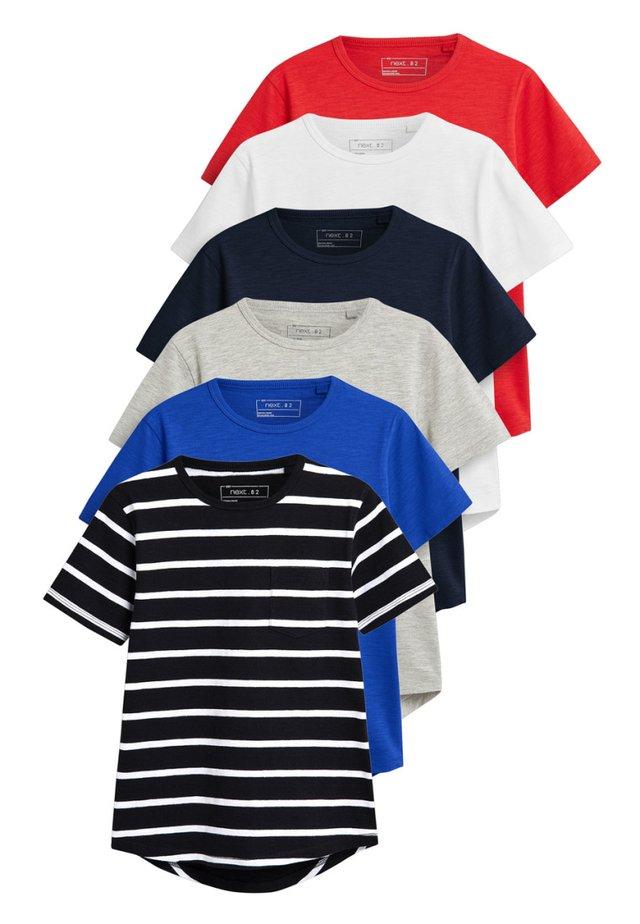 SHORT SLEEVE T-SHIRTS SIX PACK (3-16YRS) - Camiseta estampada - red