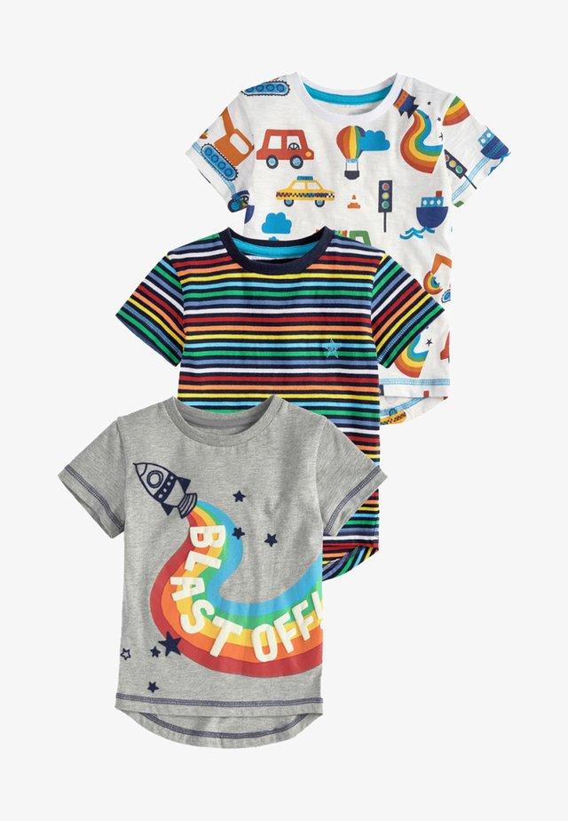 Three Pack - Print T-shirt - grey