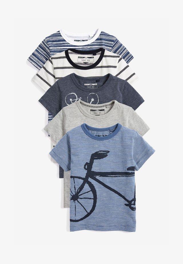 TRANSPORT 5 PACK  - T-shirts print - blue
