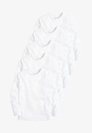 5 PACK  - Longsleeve - white