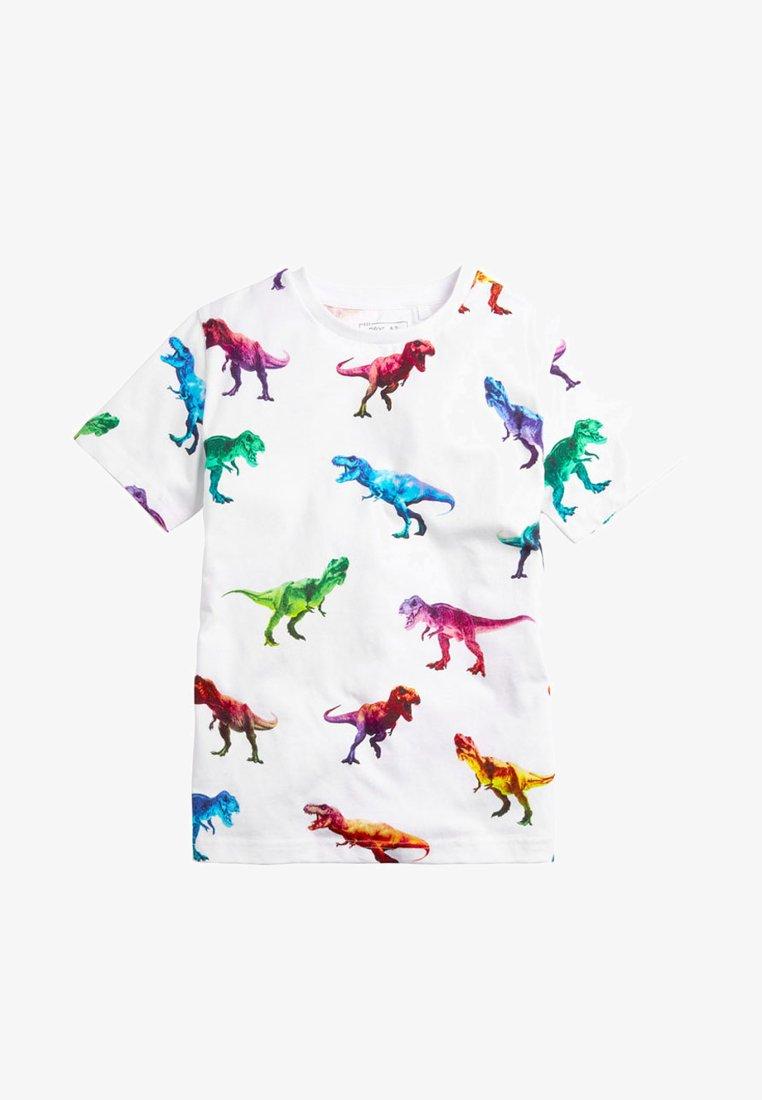 Next - MULTI DIGITAL DINOSAUR - T-Shirt print - white