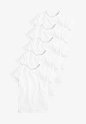 5 PACK - T-shirt basique - white