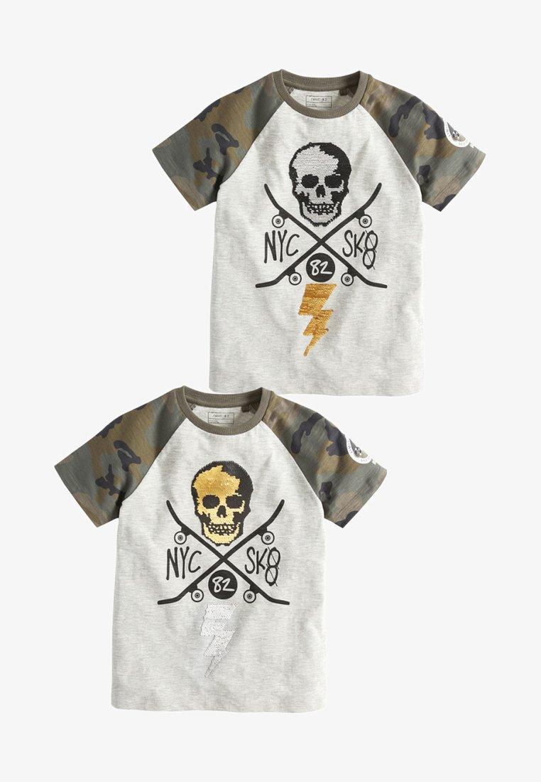 Next - 2 PACK - T-shirts print - grey
