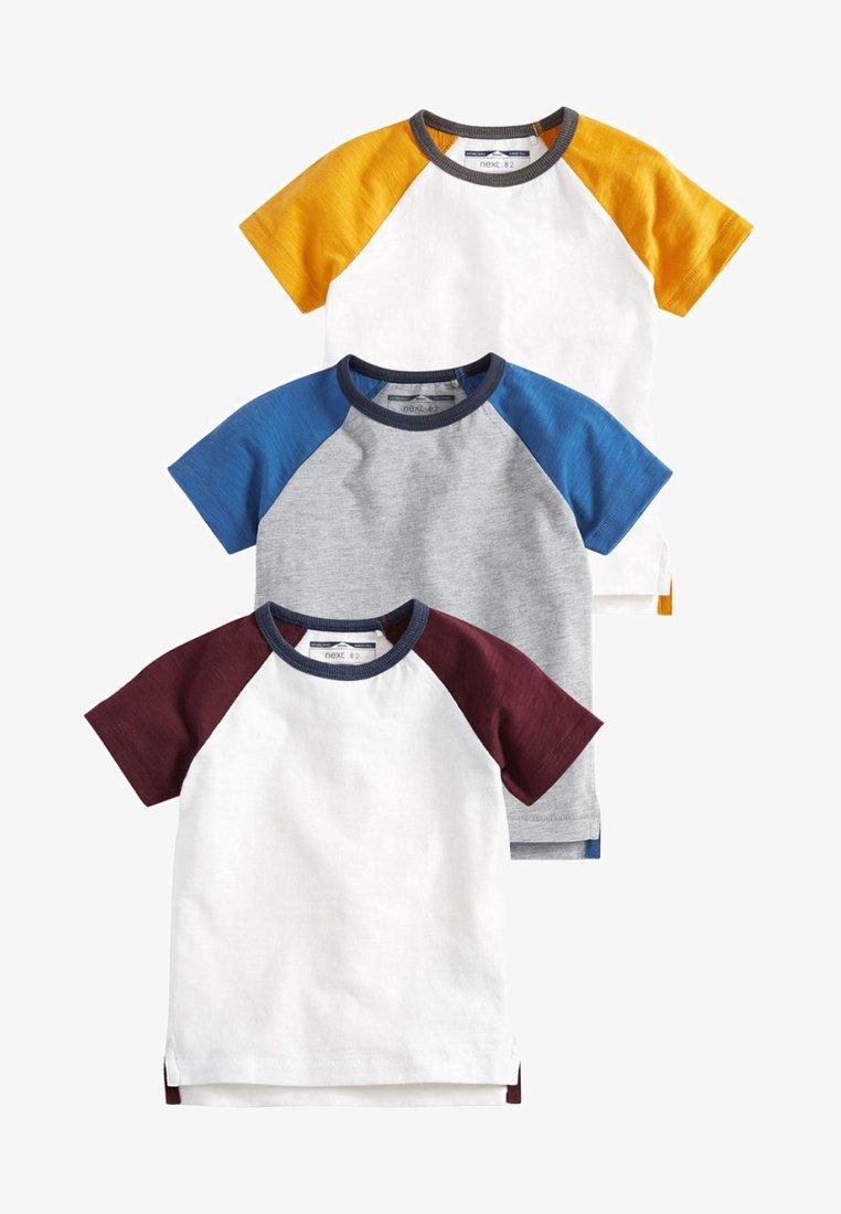 Next - 3 PACK - T-shirt imprimé - blue