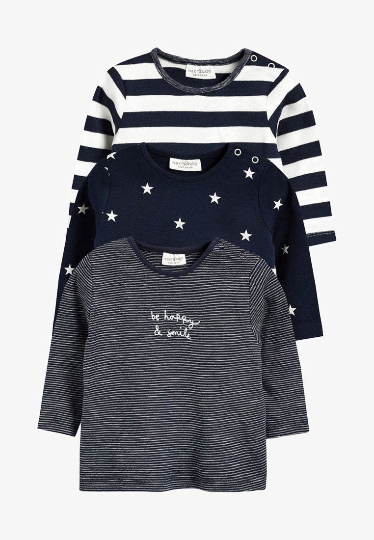 Next - THREE PACK - T-shirt à manches longues - blue