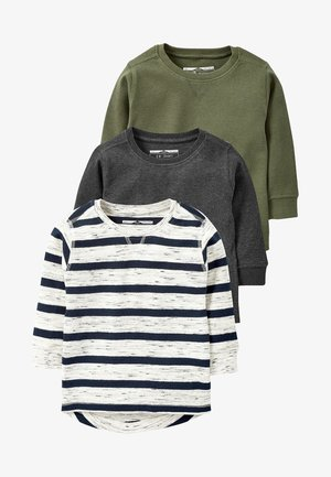 3 PACK - Long sleeved top - grey