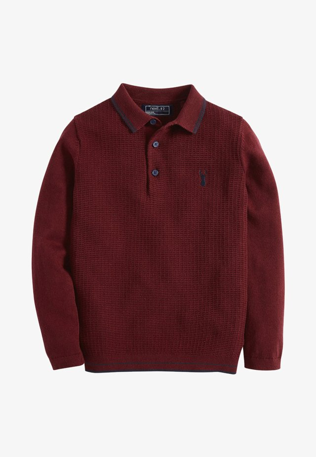 PLUM KNITTED POLO (3-16YRS) - Poloshirt - red