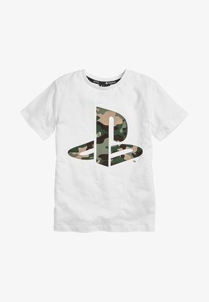 CAMO PLAYSTATIONÂ - T-shirt con stampa - white
