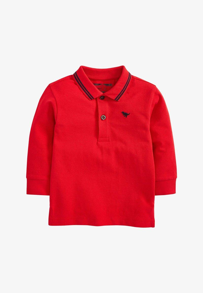 Next - BLUSH LONG SLEEVE PLAIN POLOSHIRT (3MTHS-7YRS) - Poloshirt - red