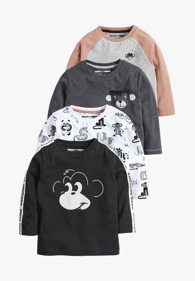 4 PACKS - T-shirt z nadrukiem - black