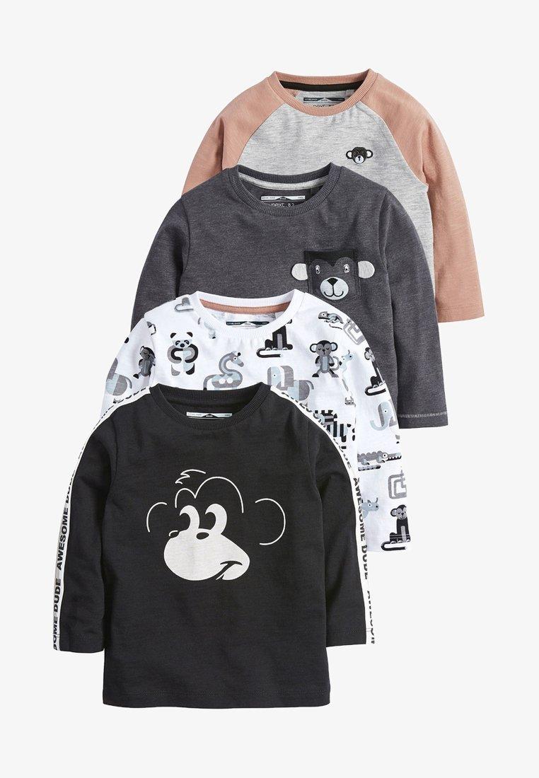 Next - 4 PACKS - T-shirt print - black