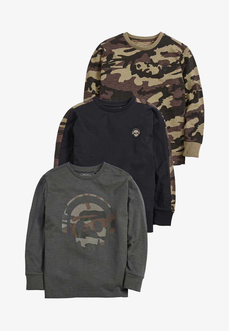 Next - 3 PACK CAMO LONG SLEEVE - Camiseta de manga larga - green