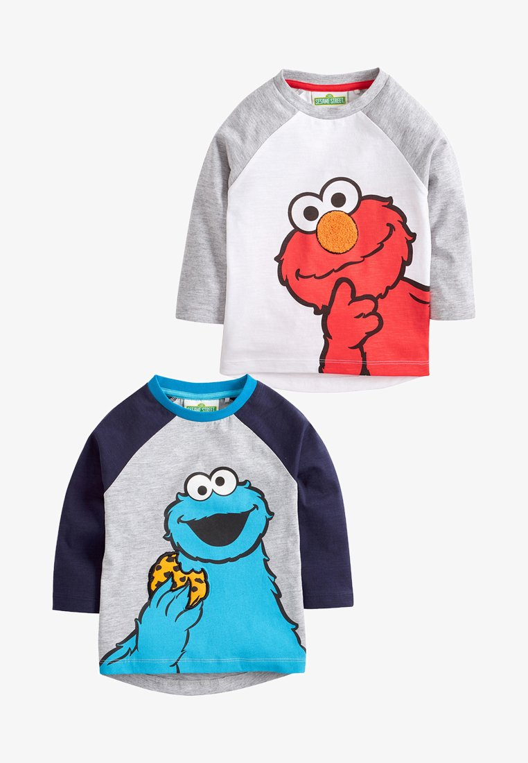 Next - COOKIE AND ELMO - Long sleeved top - grey