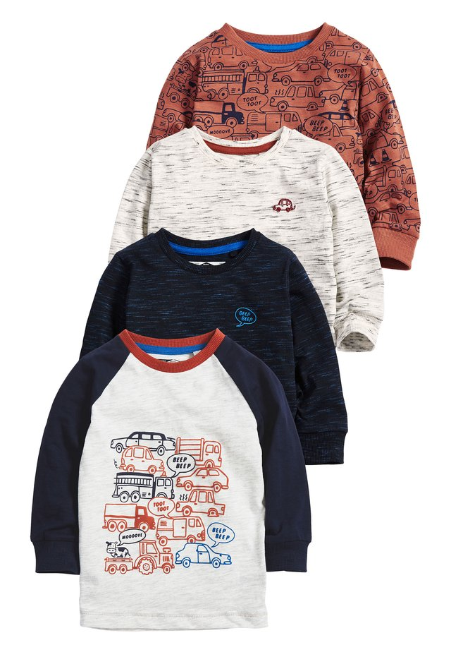 RUST 4 PACK LONG SLEEVE - T-shirt print - blue