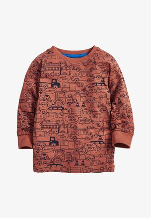 RUST 4 PACK LONG SLEEVE CARS T-SHIRTS (3MTHS-7YRS) - T-shirt med print - blue