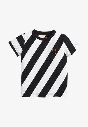 DIAGONAL STRIPE - T-shirt print - black