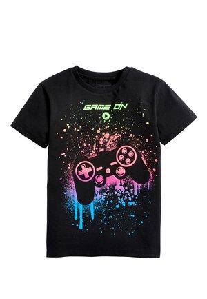 BLACK PAINT SPLAT CONTROLLER T-SHIRT (3-16YRS) - Print T-shirt - black