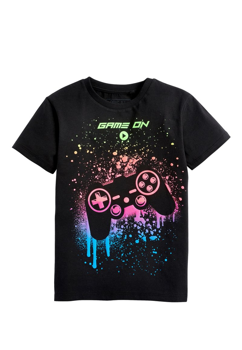 Next - BLACK PAINT SPLAT CONTROLLER T-SHIRT (3-16YRS) - Print T-shirt - black