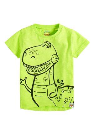 "GREEN DISNEYÂ""¢ TOY STORY REX T-SHIRT (3MTHS-8YRS) - T-shirt z nadrukiem - green"