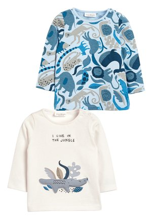 BLUE 2 PACK CROCODILE T-SHIRTS (0MTHS-3YRS) - Camiseta de manga larga - white