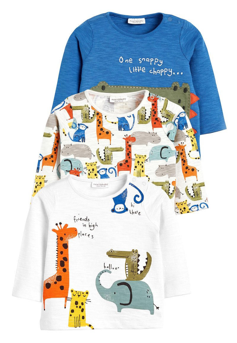 Next - BRIGHT 3 PACK CHARACTER T-SHIRTS (0MTHS-3YRS) - Long sleeved top - blue