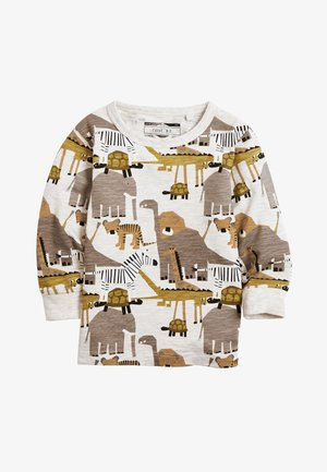 KHAKI/GREY 3 PACK LONG SLEEVE SAFARI T-SHIRTS (3MTHS-7YRS) - Longsleeve - green