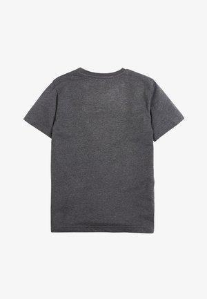 CHARCOAL MINECRAFT SEQUIN T-SHIRT (4-14YRS) - T-shirt z nadrukiem - grey