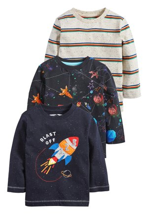 BLUE/NAVY 3 PACK LONG SLEEVE ROCKET T-SHIRTS (3MTHS-7YRS) - Long sleeved top - blue