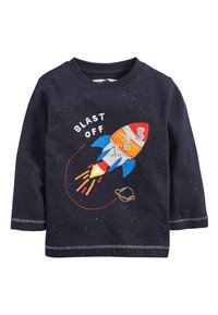 Next - BLUE/NAVY 3 PACK LONG SLEEVE ROCKET T-SHIRTS (3MTHS-7YRS) - Long sleeved top - blue - 4