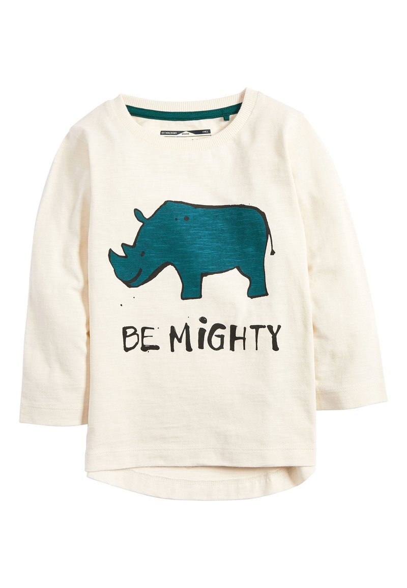 Next - ECRU LONG SLEEVE BE MIGHTY T-SHIRT (3MTHS-7YRS) - Long sleeved top - off-white