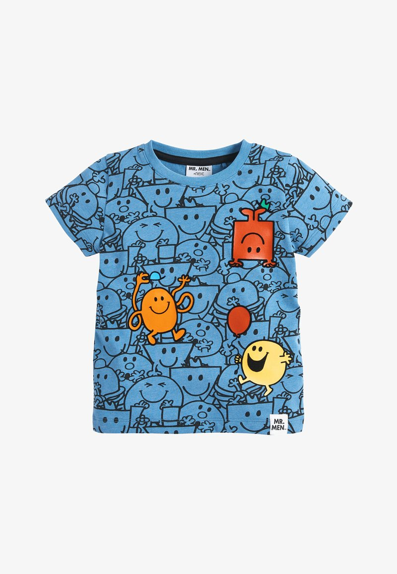 Next - BLUE MR MEN ALL OVER PRINT T-SHIRT (3MTHS-8YRS) - T-shirt z nadrukiem - blue