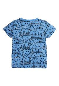 Next - BLUE MR MEN ALL OVER PRINT T-SHIRT (3MTHS-8YRS) - T-shirt z nadrukiem - blue - 1