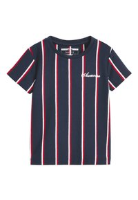 Next - NAVY/RED VERTICAL STRIPE T-SHIRT (3MTHS-7YRS) - Print T-shirt - blue - 0