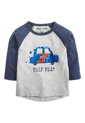GREY/NAVY LONG SLEEVE CAR FLIPPY SEQUIN T-SHIRT (9MTHS-7YRS) - Longsleeve - grey