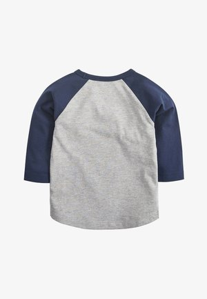 GREY/NAVY LONG SLEEVE CAR FLIPPY SEQUIN T-SHIRT (9MTHS-7YRS) - Longsleeve - grey