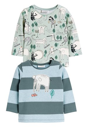 GREEN 2 PACK CHARACTER STRETCH T-SHIRTS (0MTHS-2YRS) - Long sleeved top - green