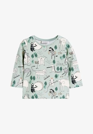 GREEN 2 PACK CHARACTER STRETCH T-SHIRTS (0MTHS-2YRS) - T-shirt à manches longues - green