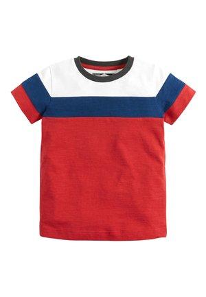 RED/BLUE/WHITE SHORT SLEEVE COLOURBLOCK T-SHIRT (3MTHS-7YRS) - Print T-shirt - red