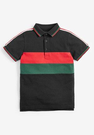 COLOURBLOCK TAPED POLOSHIRT (3-16YRS) - Polo shirt - black