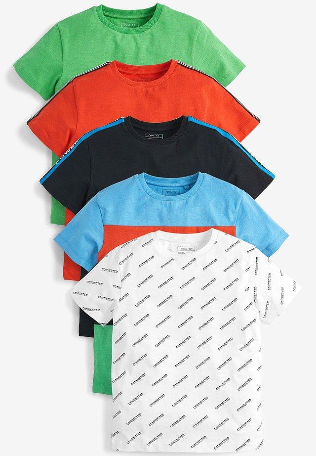 5 PACK T-SHIRTS (3-16YRS) - Camiseta estampada - red
